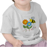 Bumble Bee With Flowers Bee Love T-shirts