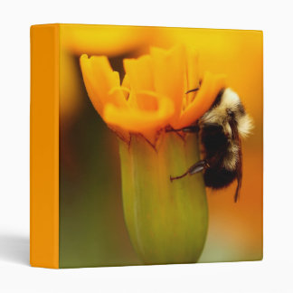 "Bumble Bee with Marigold 1"" Photo Album 3 Ring Binder"