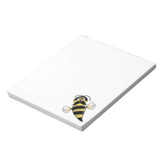 Bumble Bee with Mustache Notepad