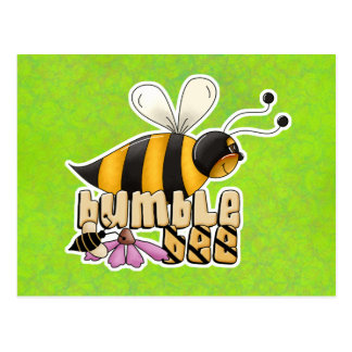 Bumble Bee with Text Postcard