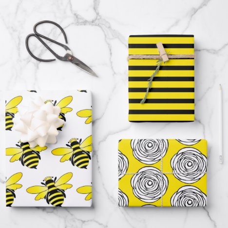 Bumble Bee Wrapping Paper Sheets