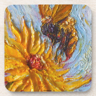 Bumble Bee & Yellow Flower Coasters