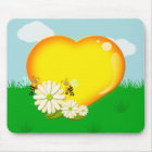 Bumble Bees and a Honey Heart Mouse Pad