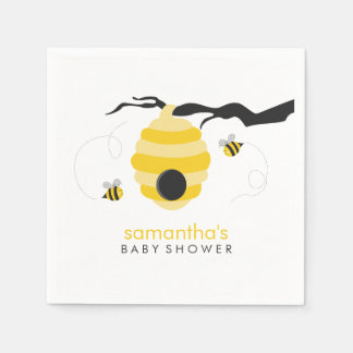 Bumble Bees Baby Shower Paper Napkin