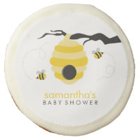 Bumble Bees Baby Shower Sugar Cookie