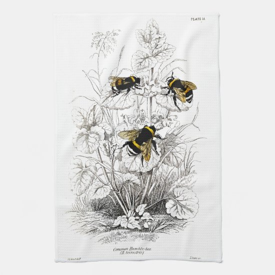 Bumble Bees Kitchen Towel