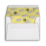 Bumble / Honey Bee Daisy White Envelope