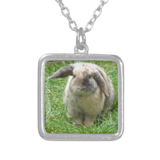 Bumble Rabbit Silver Plated Necklace
