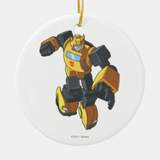 Bumblebee 3 Double-Sided ceramic round christmas ornament