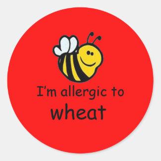bumblebee allergy sticker (more designs in store) round sticker