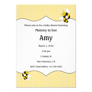 Mommy to bee invitations zazzle bumblebee baby shower invitation for mommy to bee filmwisefo
