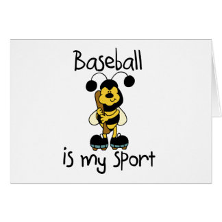 Bumblebee Baseball My Sport Tshirts and Gifts Card