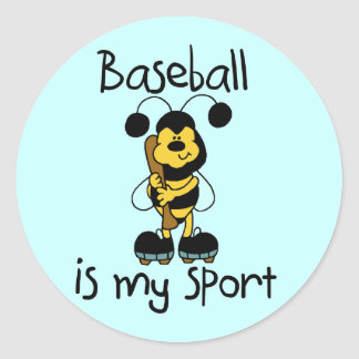 Bumblebee Baseball My Sport Tshirts and Gifts Classic Round Sticker