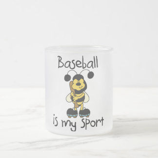 Bumblebee Baseball My Sport Tshirts and Gifts Frosted Glass Coffee Mug