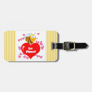 Bumblebee Be Mine Valentine Luggage Tag