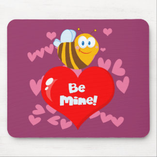 Bumblebee Be Mine Valentine Mouse Pad