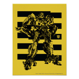 Bumblebee Bee Stripes Poster