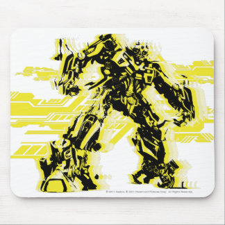 Bumblebee Black & Yellow Mouse Pad