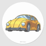 Bumblebee Car Mode Classic Round Sticker