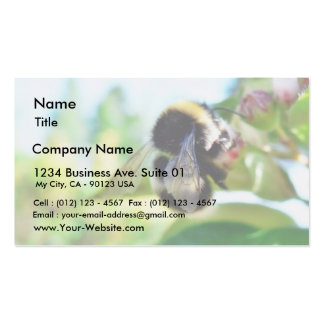 Bumblebee Collecting Polen Business Card