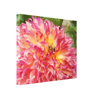 Bumblebee Collecting Sweet Summer Nectar on Canvas