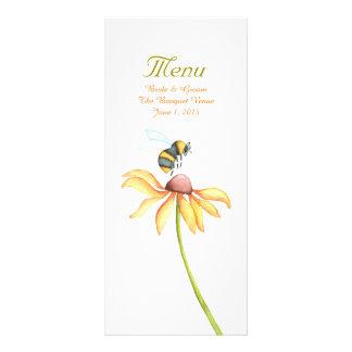 Bumblebee Daisy Watercolor Wedding Menu