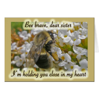 Bumblebee Encouragement for Sister Card