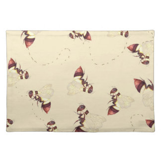 Bumblebee Flight Pattern Cloth Placemat
