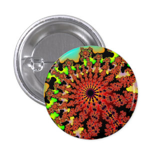 Bumblebee Floral Burst Small Round Button