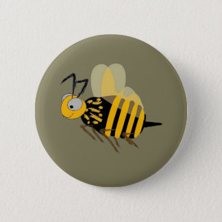 Bumblebee Flying on Button