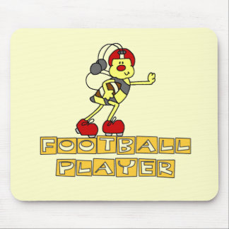 Bumblebee Football Player Tshirts and Gifts Mouse Pad