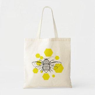 Bumblebee Hive Design Tote Bag