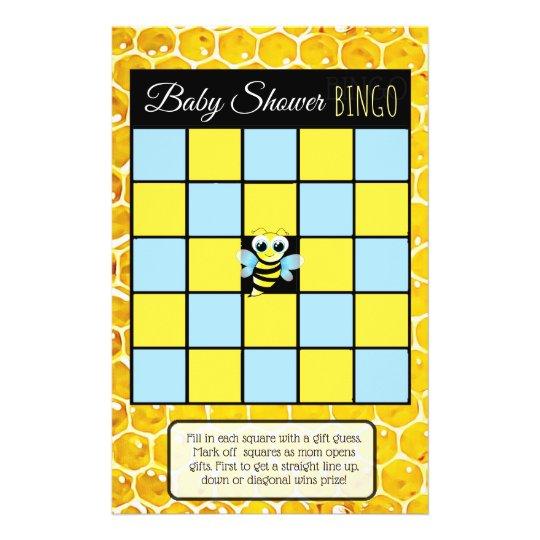 Bumblebee Honey Bee Themed Baby Shower Games Flyer