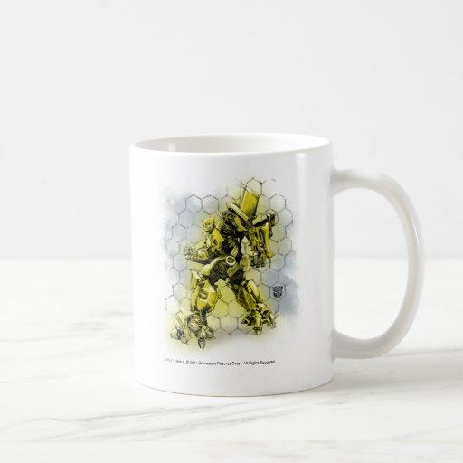 Bumblebee Honeycomb Bkgd 2 Coffee Mugs