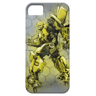 Bumblebee Honeycomb Bkgd iPhone 5 Case