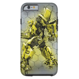 Bumblebee Honeycomb Bkgd Tough iPhone 6 Case