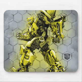 Bumblebee Honeycomb Bkgd Mouse Pad