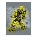 Bumblebee Honeycomb Bkgd Postcard