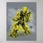 Bumblebee Honeycomb Bkgd Poster