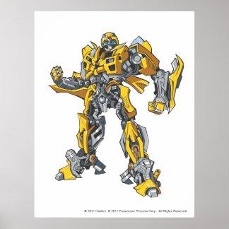 Bumblebee Line Art 2 Poster