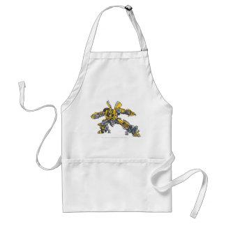 Bumblebee Line Art 3 Adult Apron