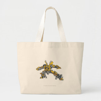 Bumblebee Line Art 3 Large Tote Bag