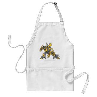 Bumblebee Line Art 4 Adult Apron