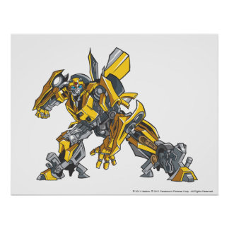 Bumblebee Line Art 4 Poster