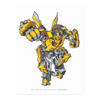 Bumblebee Line Art 6 Postcard