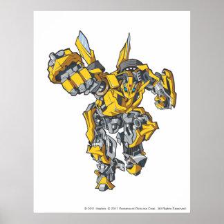 Bumblebee Line Art 6 Poster
