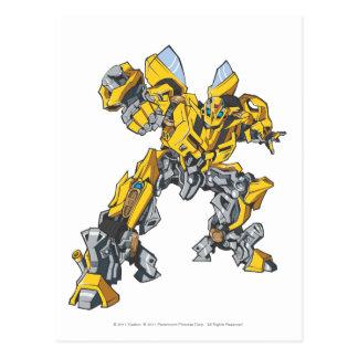 Bumblebee Line Art 7 Postcard
