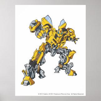 Bumblebee Line Art 7 Poster