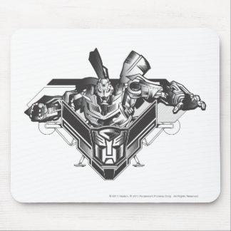Bumblebee Metal Badge 2 Mouse Pad