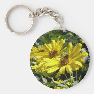 Bumblebee n sunflower keychain